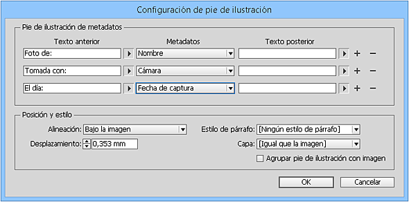 Indesign Cc Para Pc Mac Añadir Pies A Las Fotos
