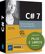 C# 7 Pack de 2 libros: Domine el desarrollo con Visual Studio 2017