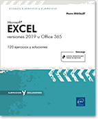 Excel 2019 versiones 2019 u Office 365