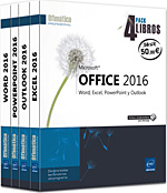 Microsoft® Office 2016 Pack 4 libros: Word, Excel, PowerPoint y Outlook